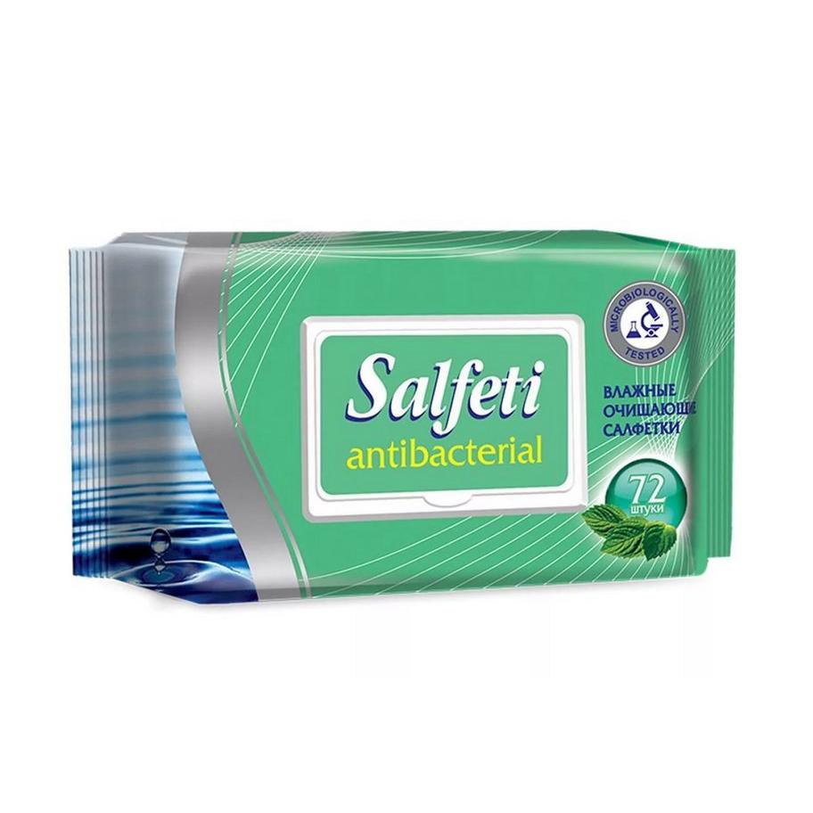 Салфетки влажные Salfeti антибактериальные 72 шт.