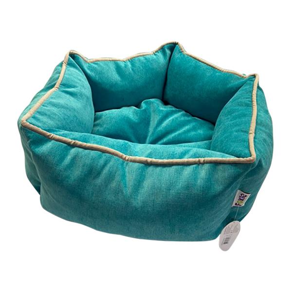Лежак для животных Foxie Colour Звезда 51х51х22см бирюзовый.