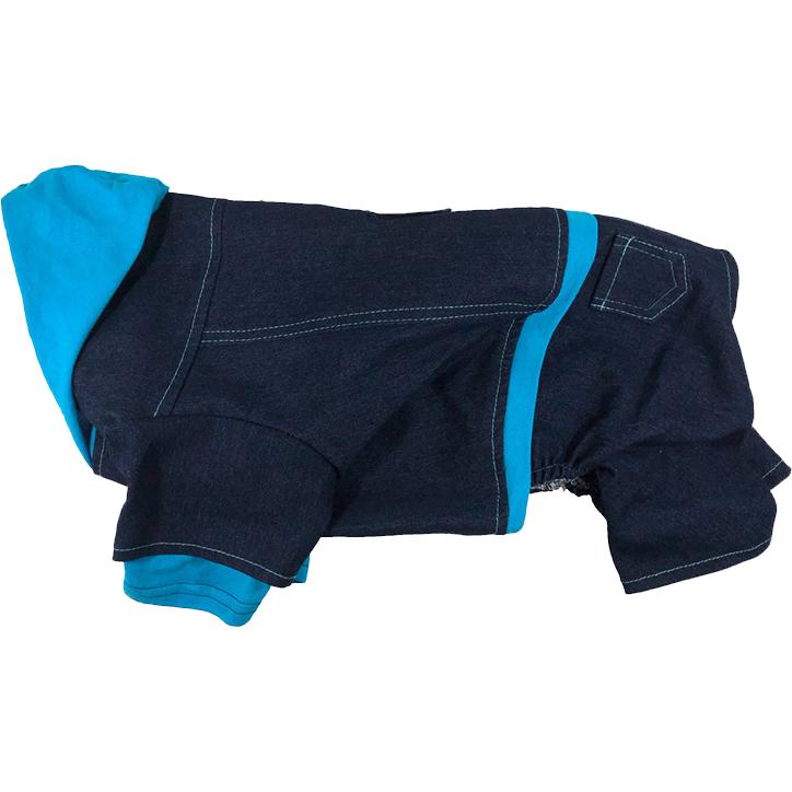 Комбинезон для собак ДОГ МАСТЕР Джинсовый XL 32 см.