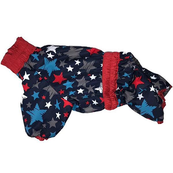 Комбинезон для собак ДОГ МАСТЕР Плащ на подкладке с отделкой L 28 см комбинезон плащ для собак дог мастер на подкладке с отделкой размер xxxl 38 см