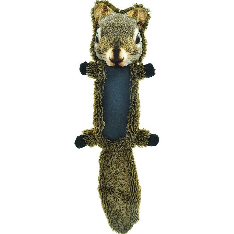 Игрушка для собак CHOMPER FurRealz Белка плоская с шуршащим хвостом и пищалкой 49 см.
