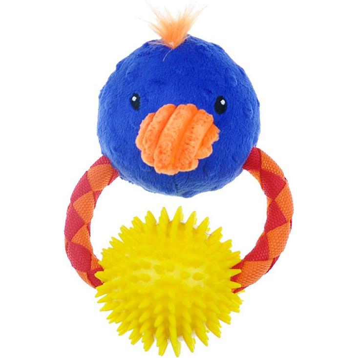 Игрушка для собак CHOMPER Meadow Звери на кольце с мячом и пищалкой 15 см.