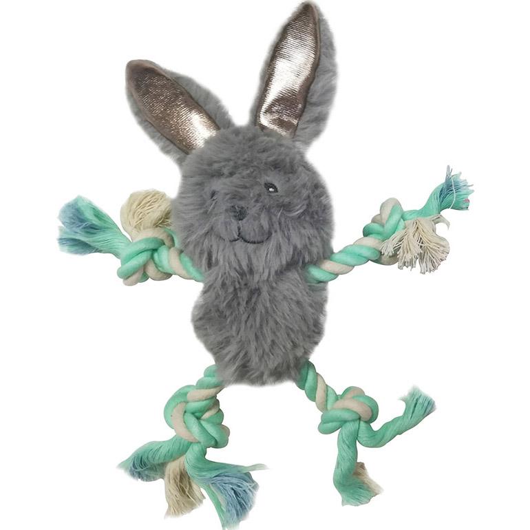 Игрушка для собак CHOMPER Enchanted Forest Лесные звери с лапами из каната и пищалкой 18 см игрушка для собак chomper enchanted forest лесные звери на канате с пищалкой плюш 29см