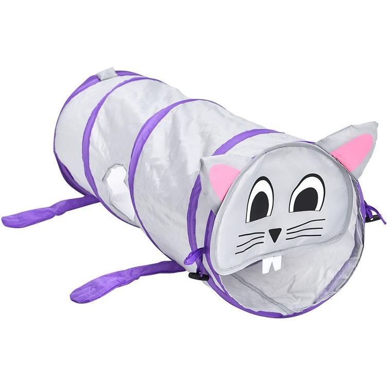 Тоннель для кошек Foxie Мышка серый 25x70 см.