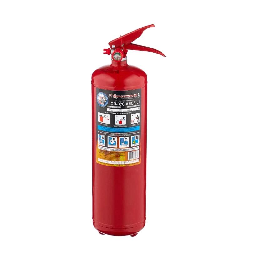 Огнетушитель порошковый Ярпожинвест ОП-3(з)-ABCE-01
