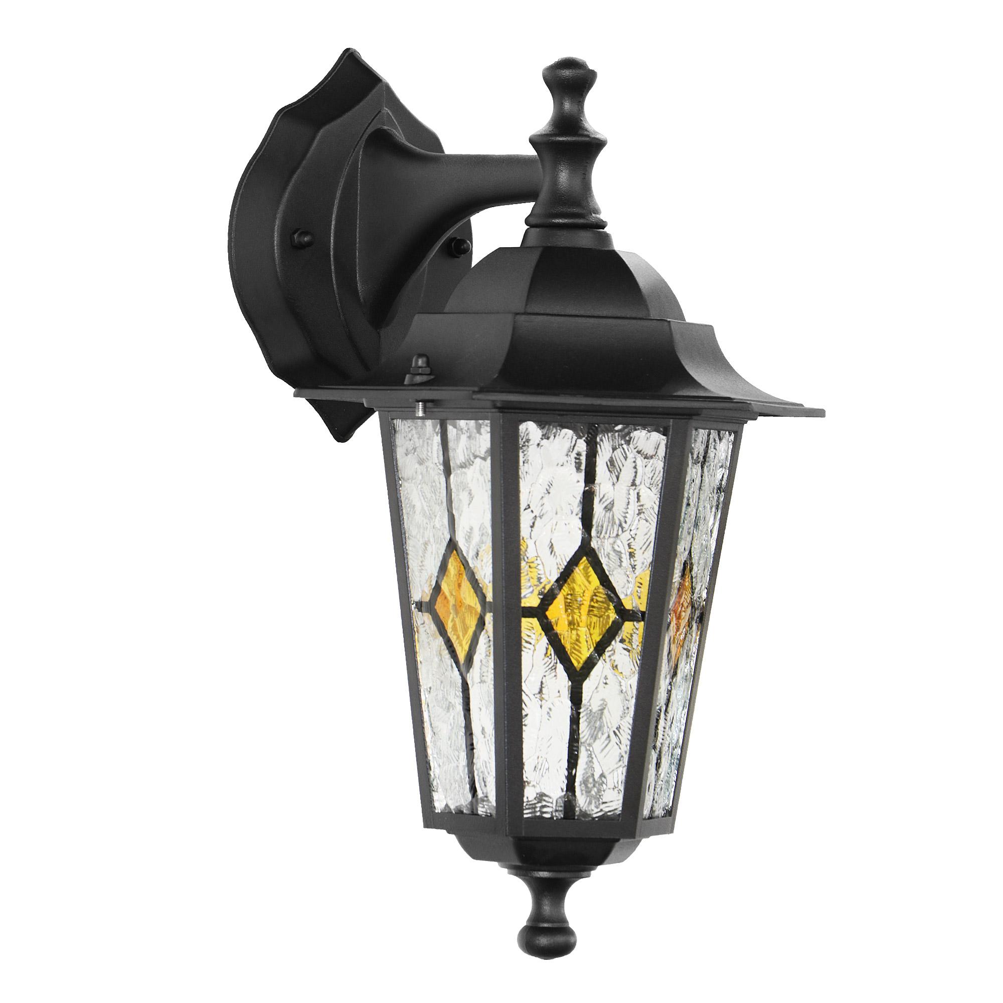 Светильник садовый настенный Amber lamp 8002SB светильник садовый настенный amber lamp 8001sb
