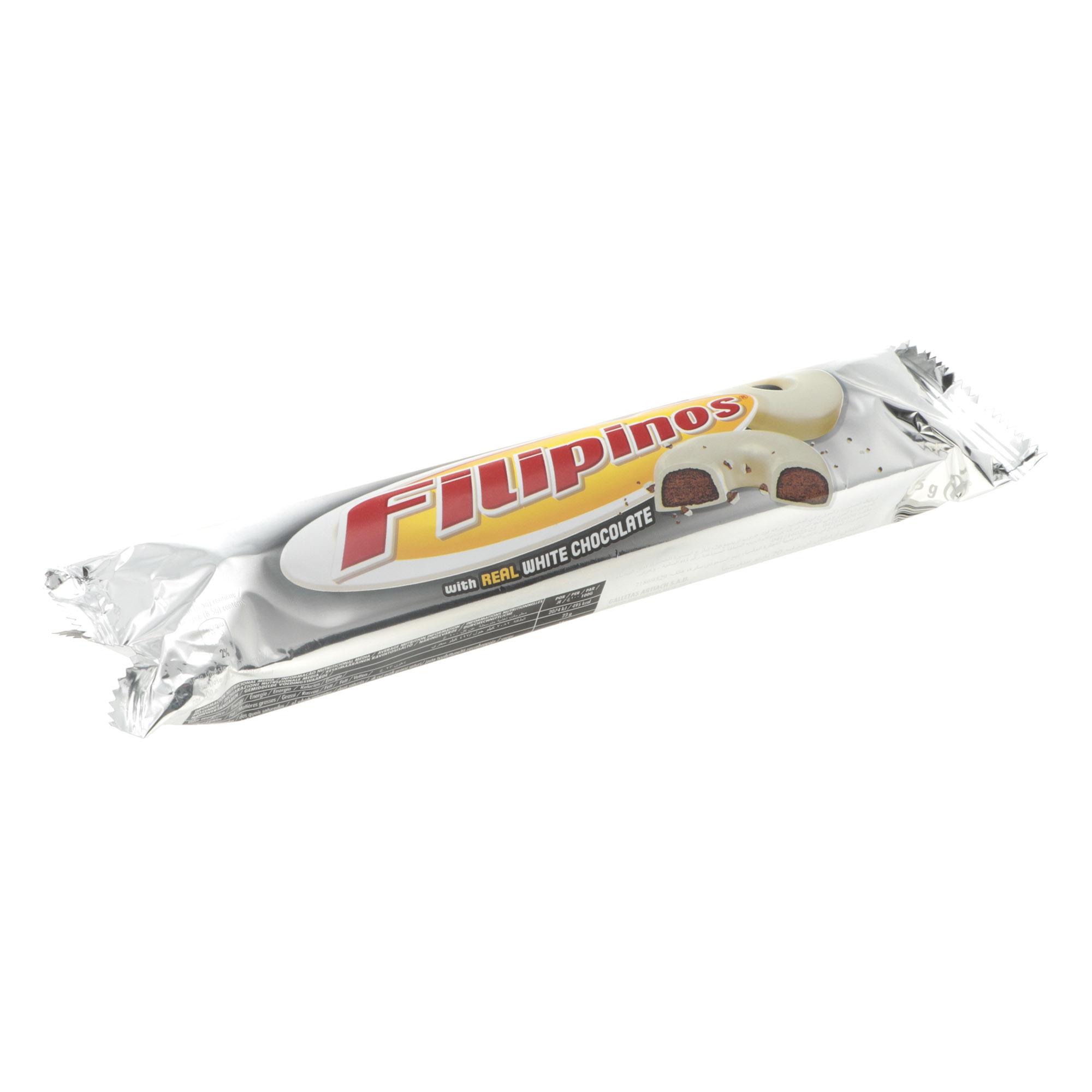 Печенье Filipinos с белым шоколадом, 135 г бальзен печенье сендвич pick up с белым шоколадом bahlsen