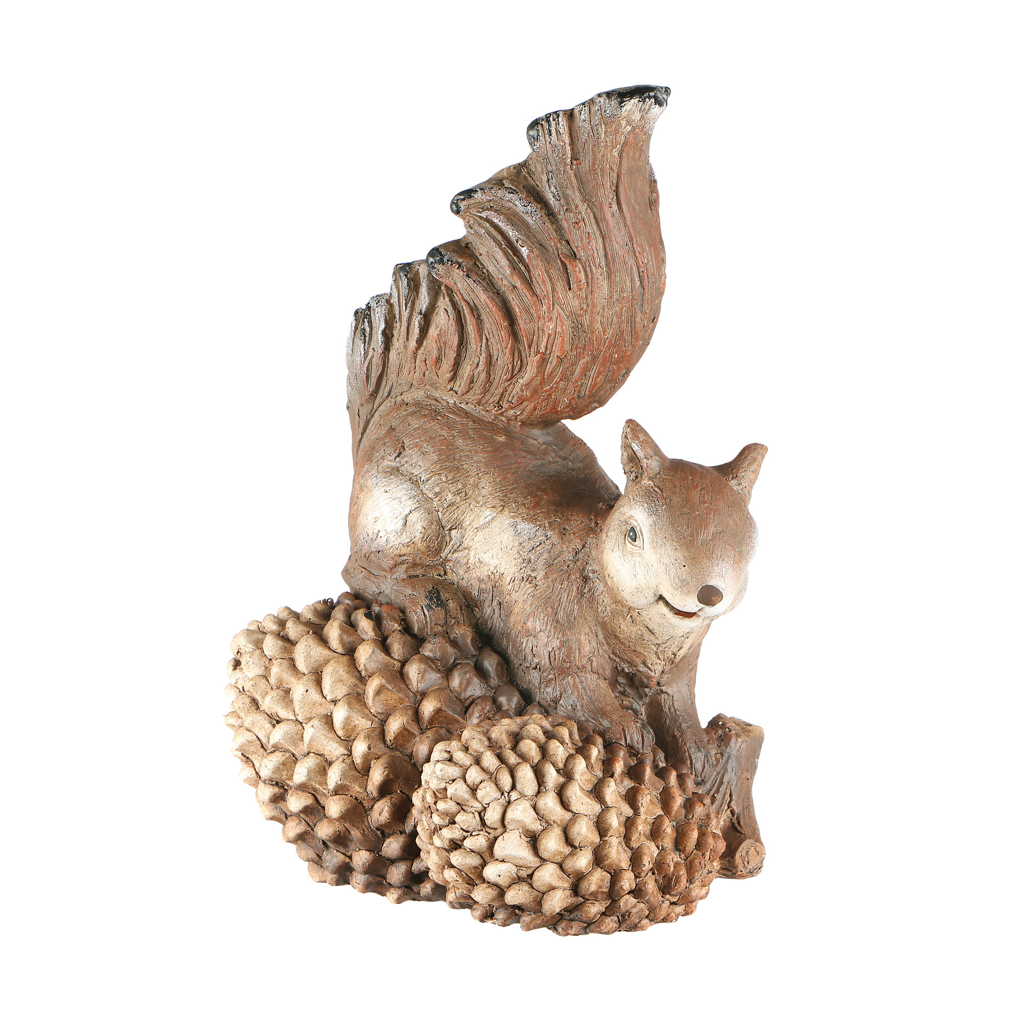 Фигура садовая Foryou craft белка с шишками 26х20х41см садовая фигура белка с шишками 24х14х19см 4870383