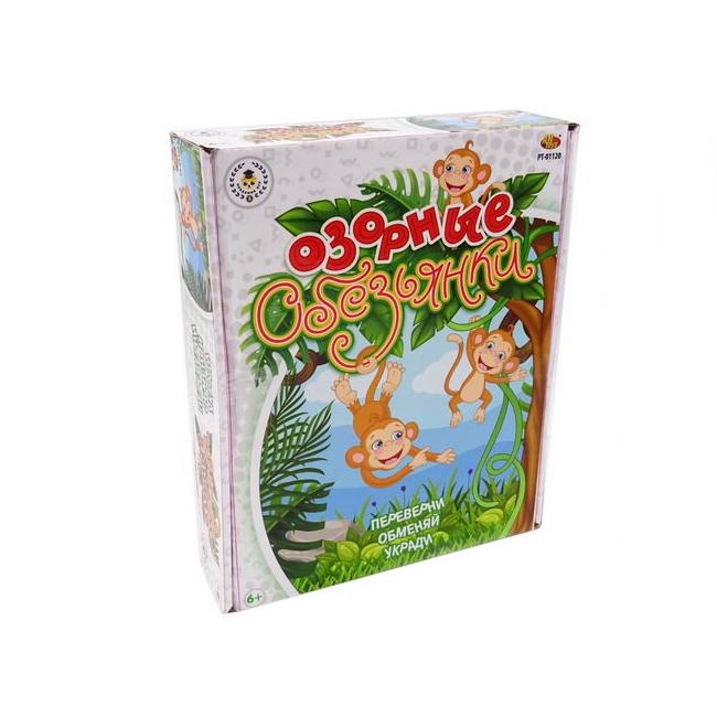 Игра настольная ABtoys Озорные обезьянки PT-01120 настольная игра abtoys мир домино pt 00820