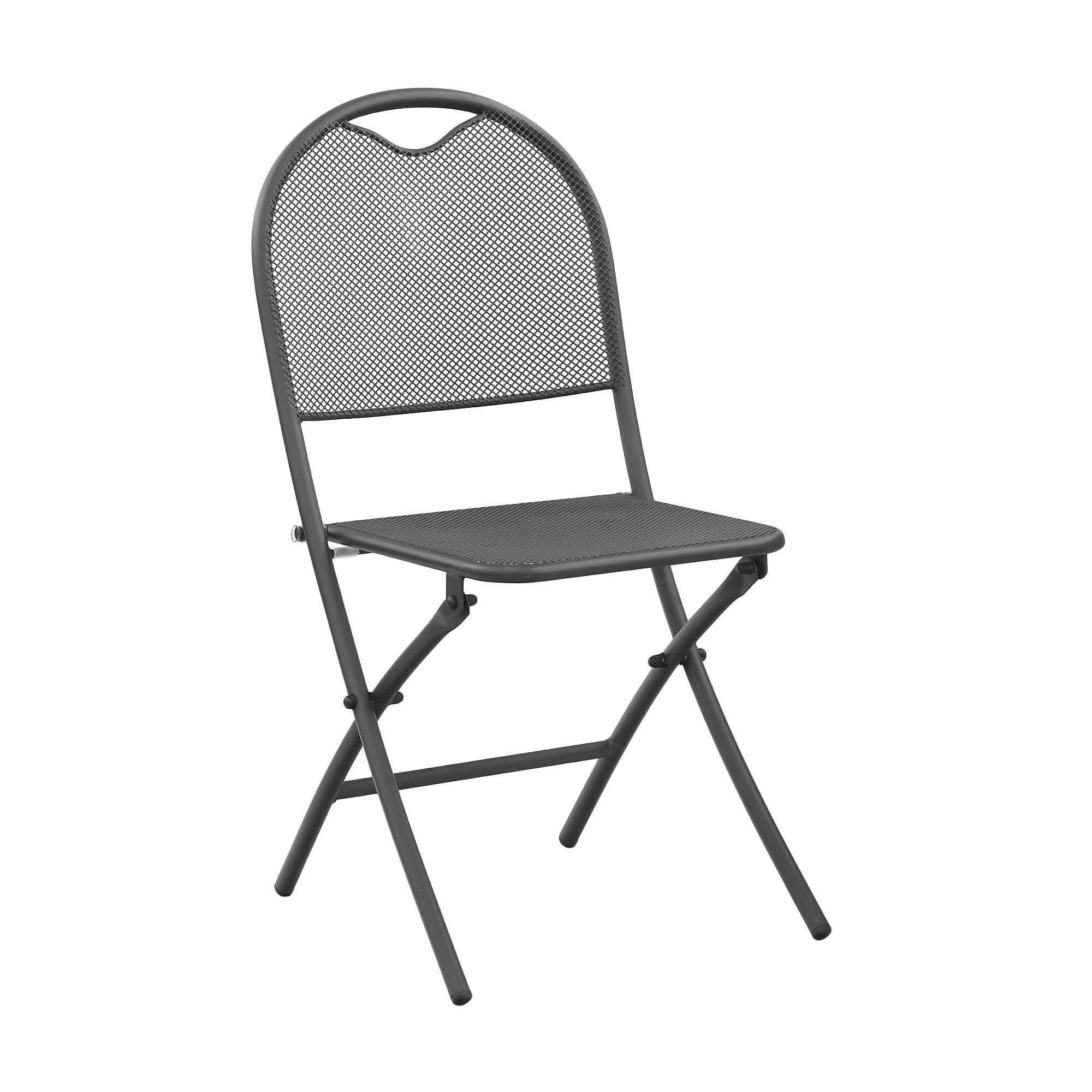 Стул складной Koopman furniture темно-серый 52,5x88x46,5 см