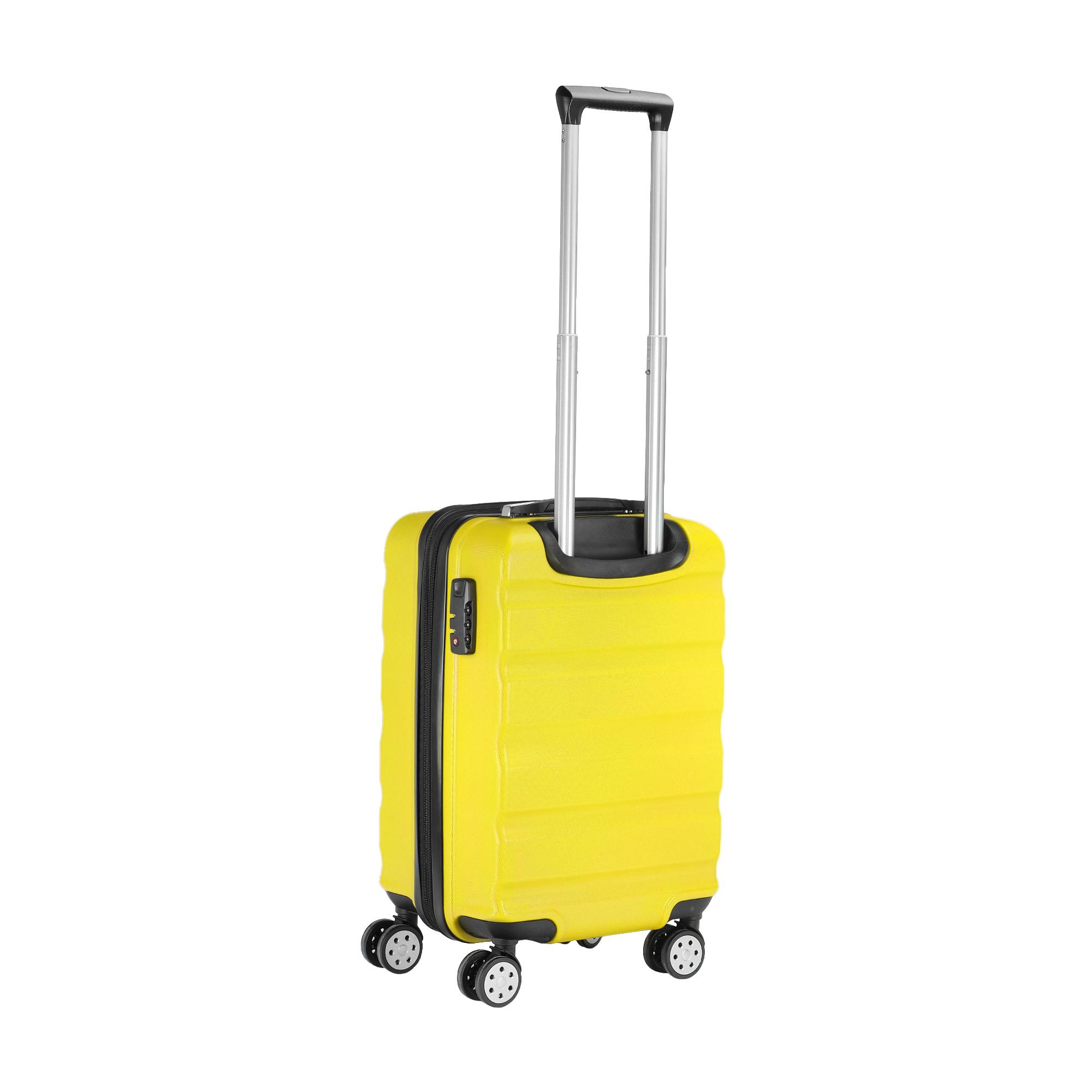 Чемодан жёлтый Feiyang s 40л abs+pc 37х25х57см фото