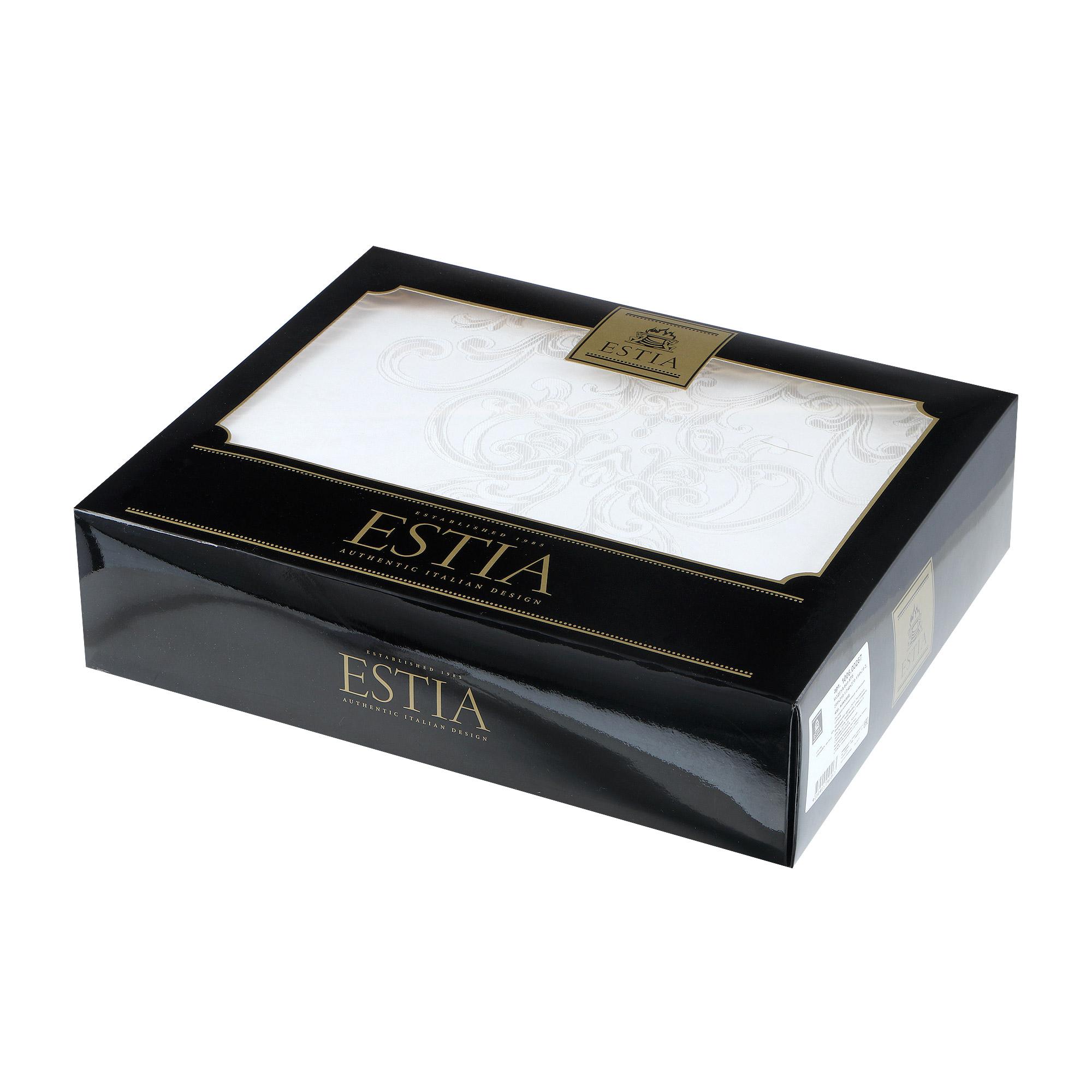 Постельный комплект Estia Модена белый семейный/дуэт