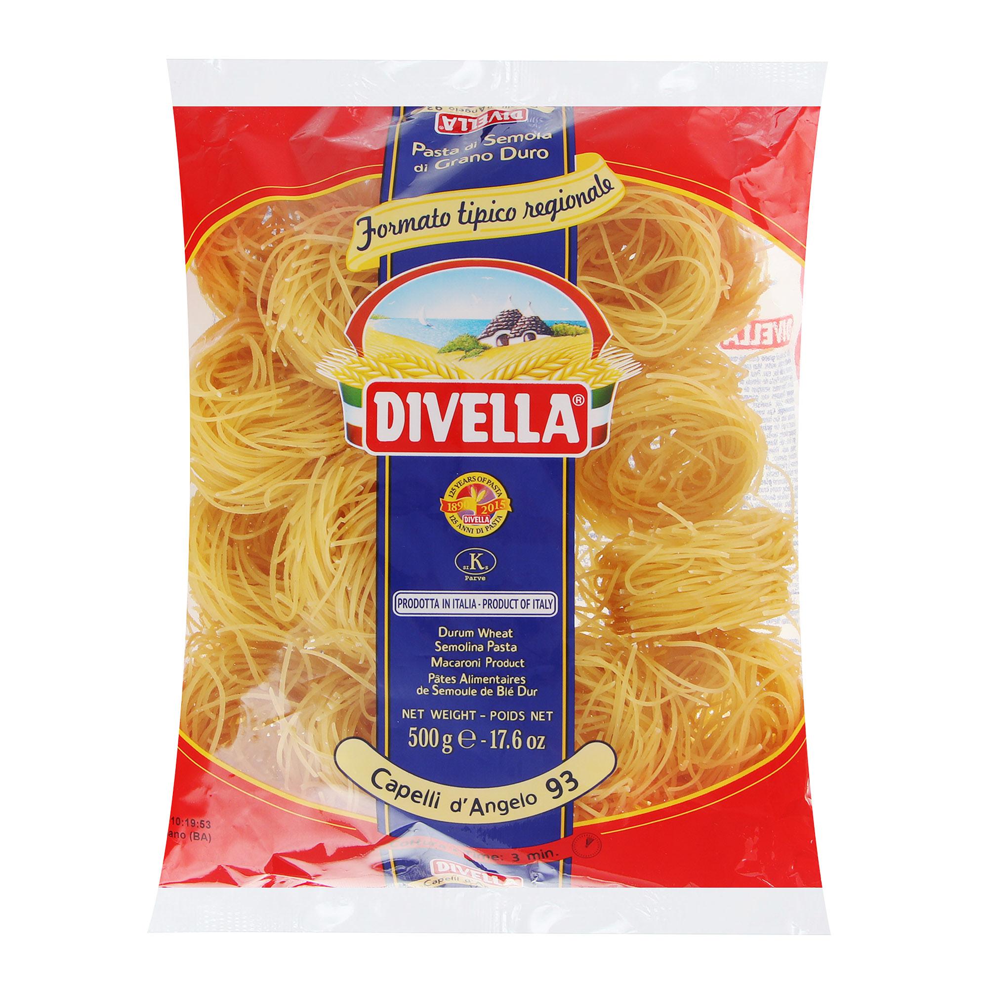 Фото - Макароны Divella Capelli d`Angelo 500 г макароны divella фузилли 500 г