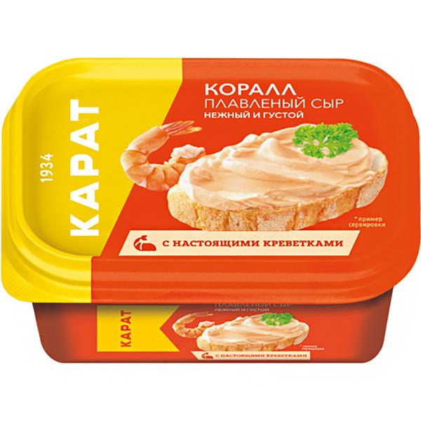 Сыр плавленый Карат Коралл 45% 400 г сыр плавленый карат янтарь 45% 400 г