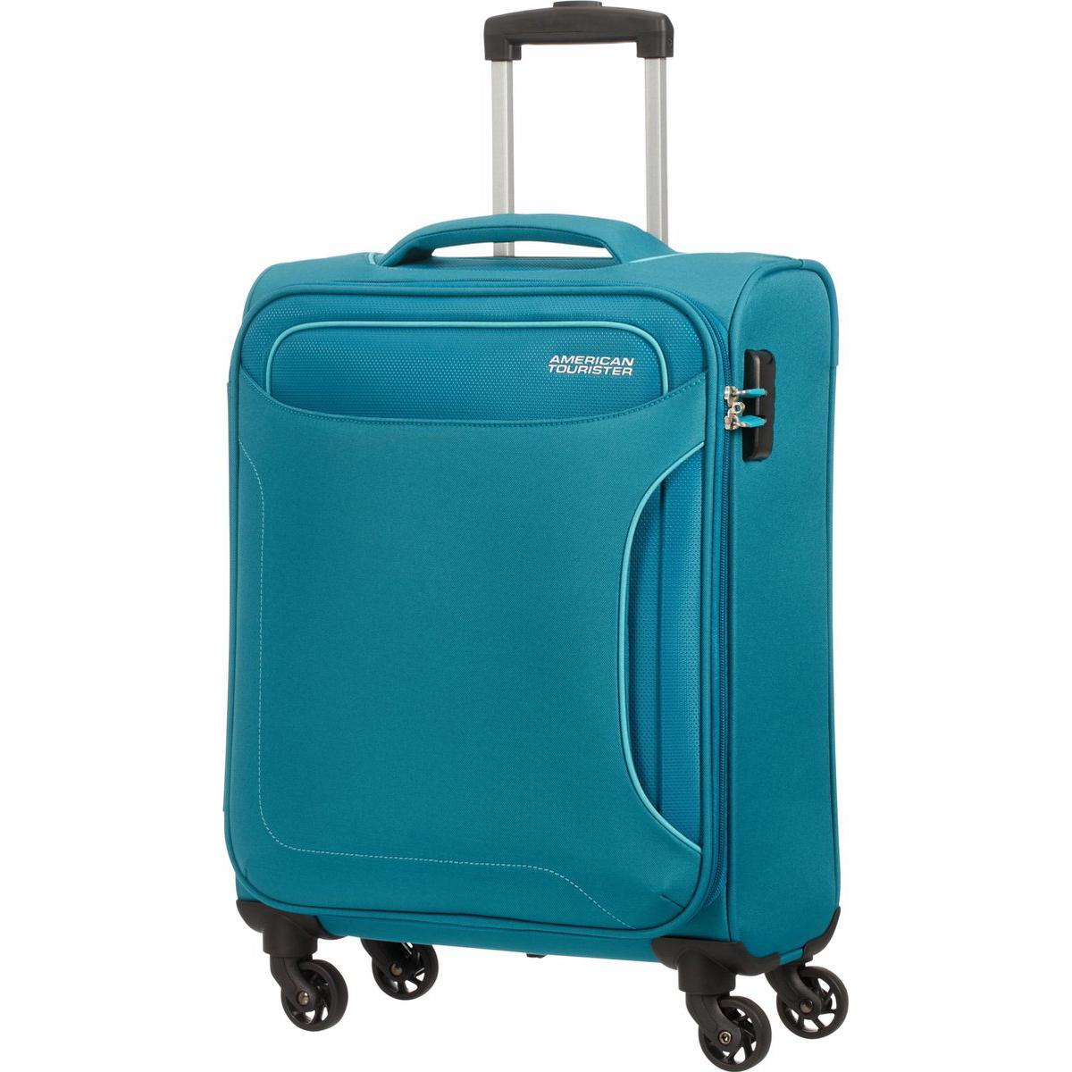 Фото - Чемодан American Tourister 4-х колесный сине-зеленый 40х20х55 см чемодан american tourister 4 х колесный бирюзовый 40х20х55 см