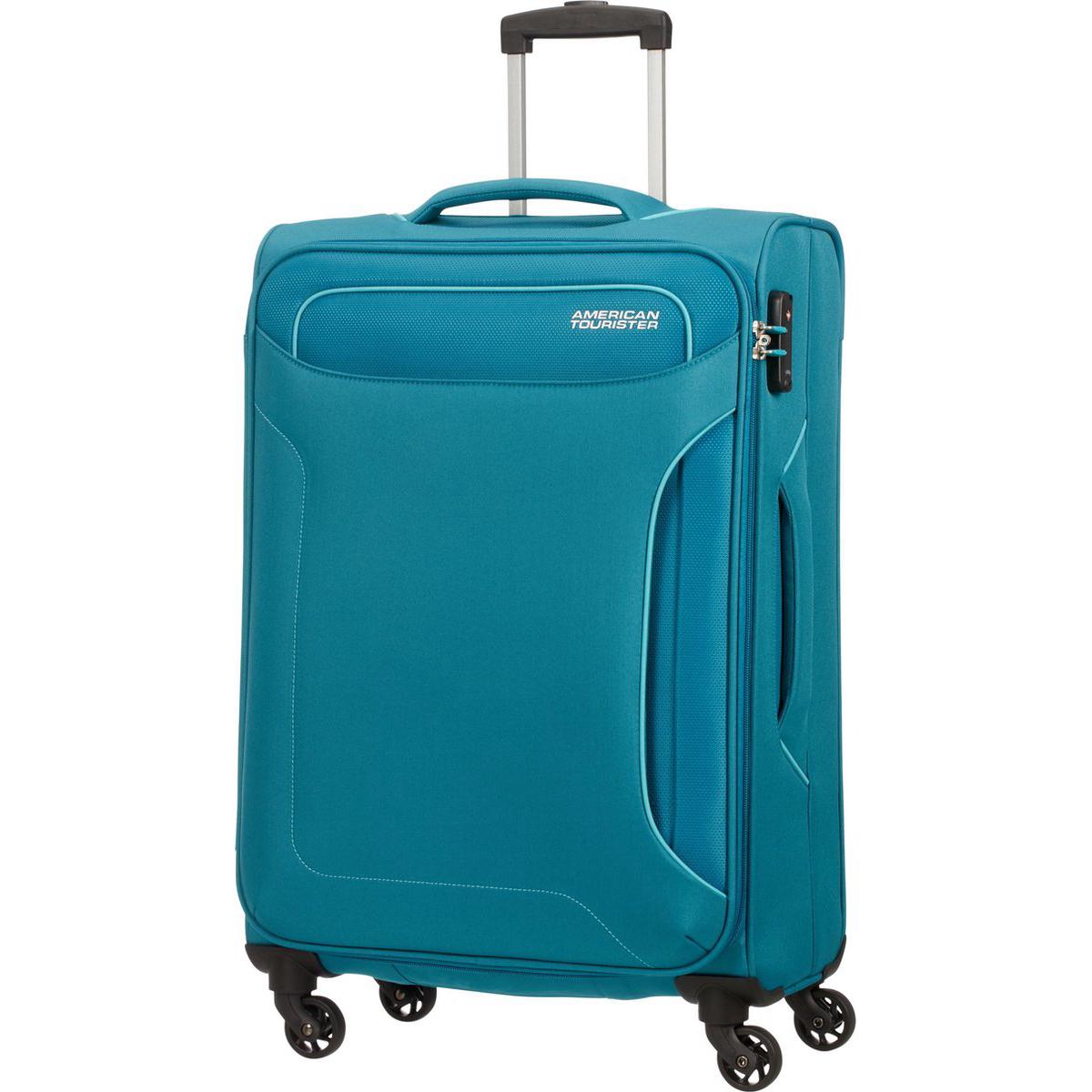 Чемодан American Tourister 4-х колесный сине-зеленый 44х275х67 см.