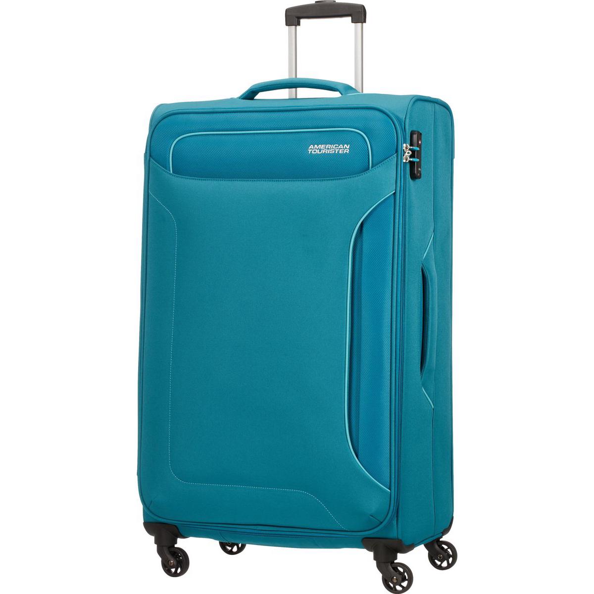 Фото - Чемодан American Tourister 4-х колесный сине-зеленый 46,5х32х79,5 см чемодан american tourister 4 х колесный бирюзовый 40х20х55 см