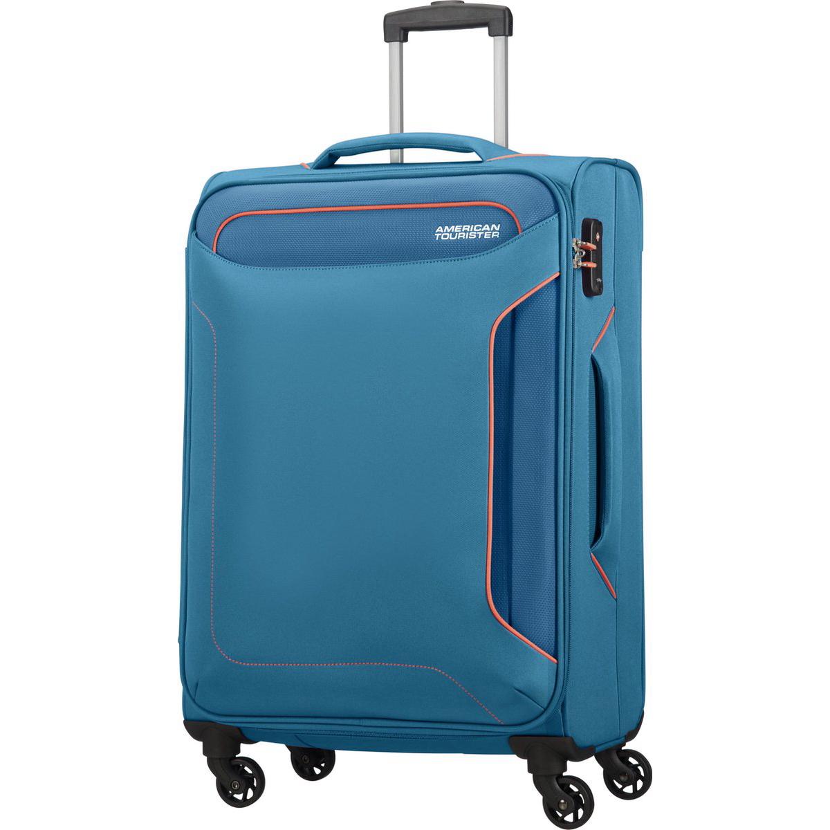 Чемодан American Tourister 4-х колесный голубой 44х275х67 см.