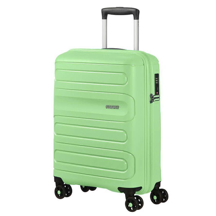 Фото - Чемодан American Tourister 4-х колесный светло-зеленый 40х20х55 см чемодан american tourister 4 х колесный бирюзовый 40х20х55 см
