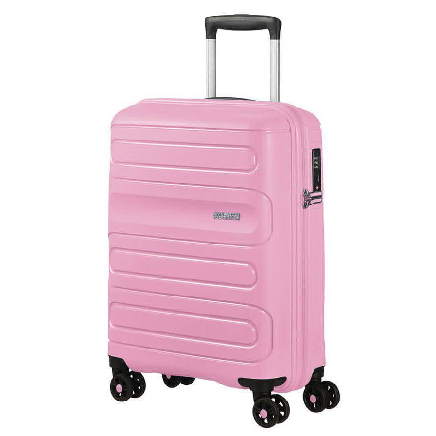 Чемодан American Tourister 4-х колесный розовый 40х20х55 см.
