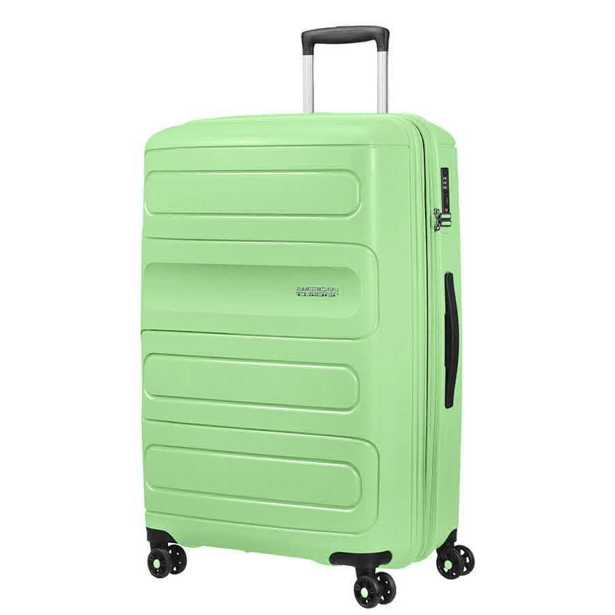Фото - Чемодан American Tourister 4-х колесный светло-зеленый 50х31х77 см чемодан american tourister 4 х колесный бирюзовый 40х20х55 см