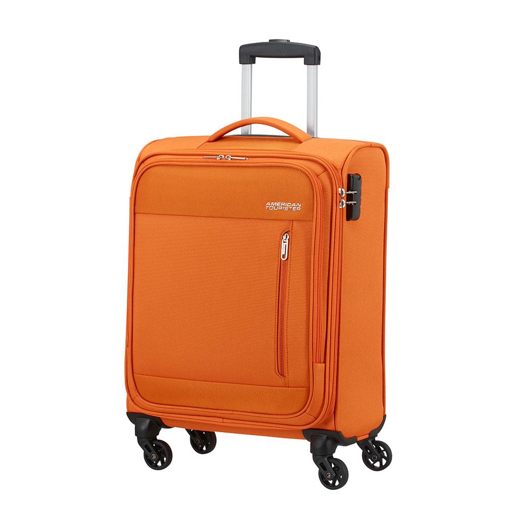 Фото - Чемодан American Tourister 4-х колесный оранжевый 40х20х55 см чемодан american tourister 4 х колесный бирюзовый 40х20х55 см