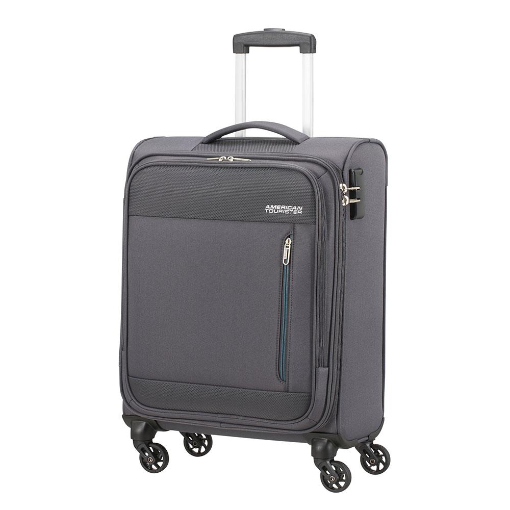 Фото - Чемодан American Tourister 4-х колесный темно-серый 40х20х55 см чемодан american tourister 4 х колесный бирюзовый 40х20х55 см