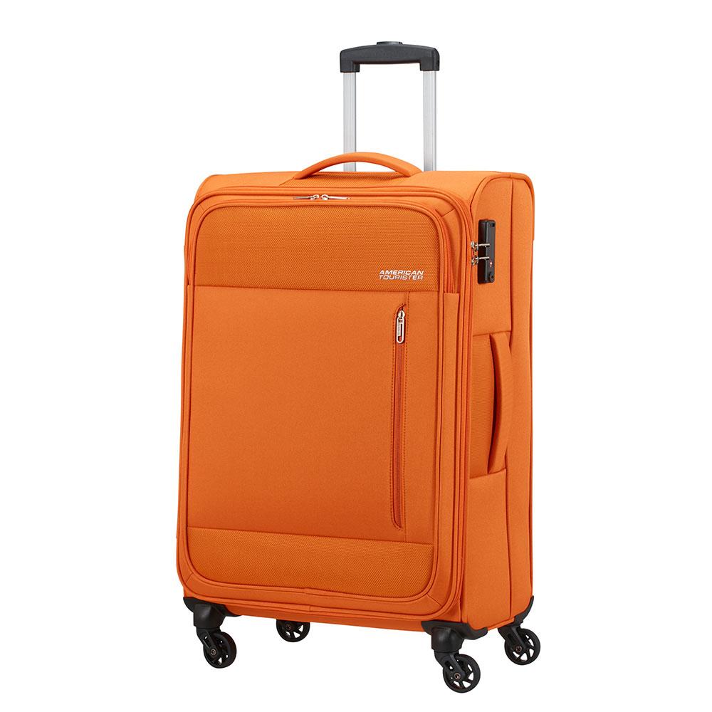 Фото - Чемодан American Tourister 4-х колесный оранжевый 43х25,5х68 см чемодан american tourister 4 х колесный бирюзовый 40х20х55 см