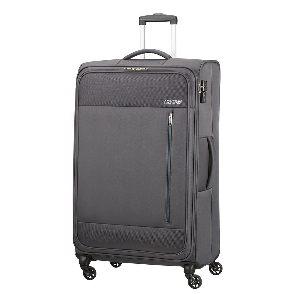 Фото - Чемодан American Tourister 4-х колесный темно-серый 47х29х80 см чемодан american tourister 4 х колесный бирюзовый 40х20х55 см