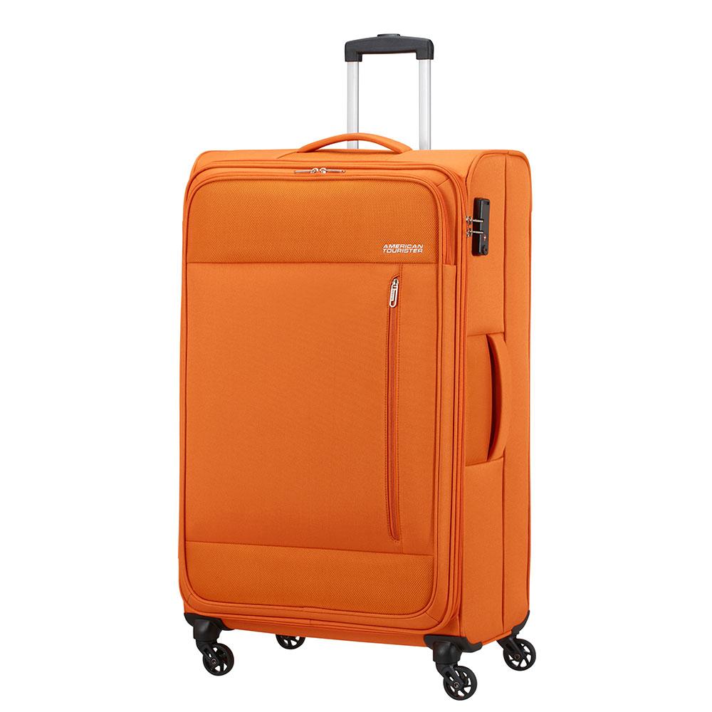 Фото - Чемодан American Tourister 4-х колесный оранжевый 47х29х80 см чемодан american tourister 4 х колесный бирюзовый 40х20х55 см