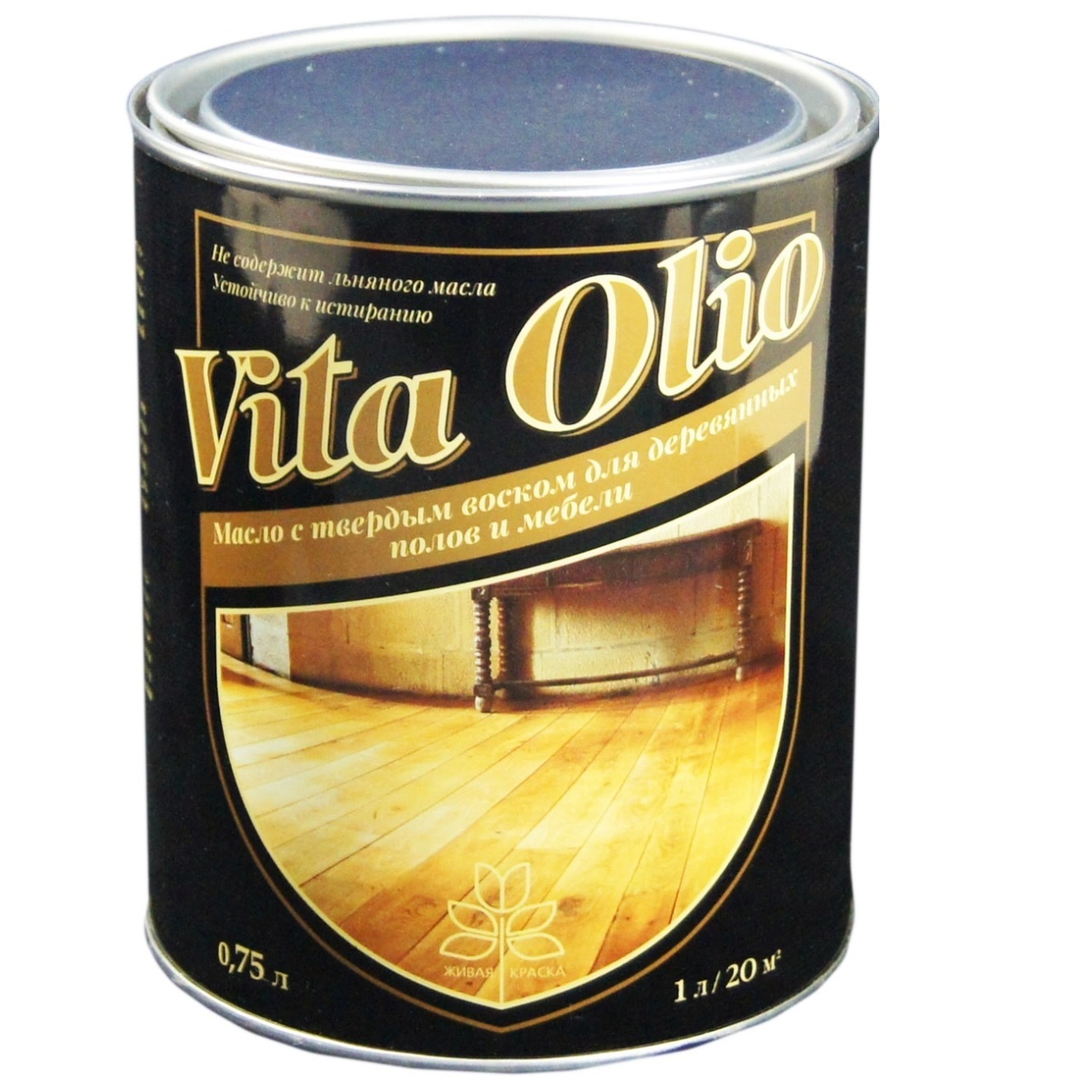 Масло VITA OLIO для паркета, лестниц и мебели шелковисто-матовое цвет беленый дуб 0,75 л