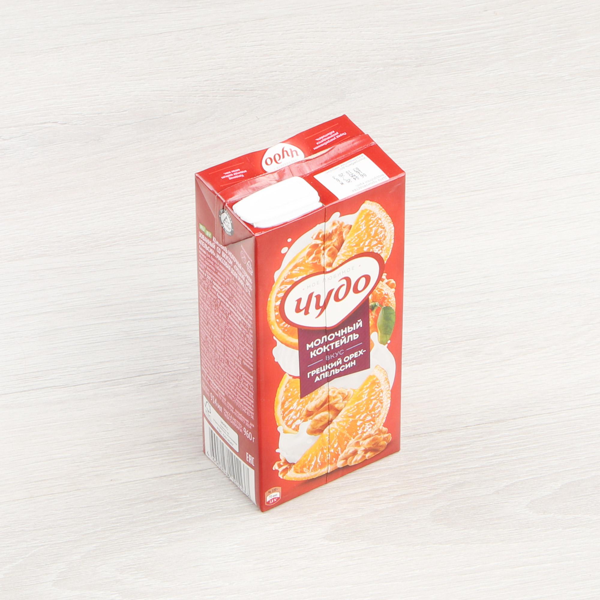 шоколад вдохновение грецкий орех грильяж 100 г Коктейль Чудо грецкий орех, апельсин 2% 960 г