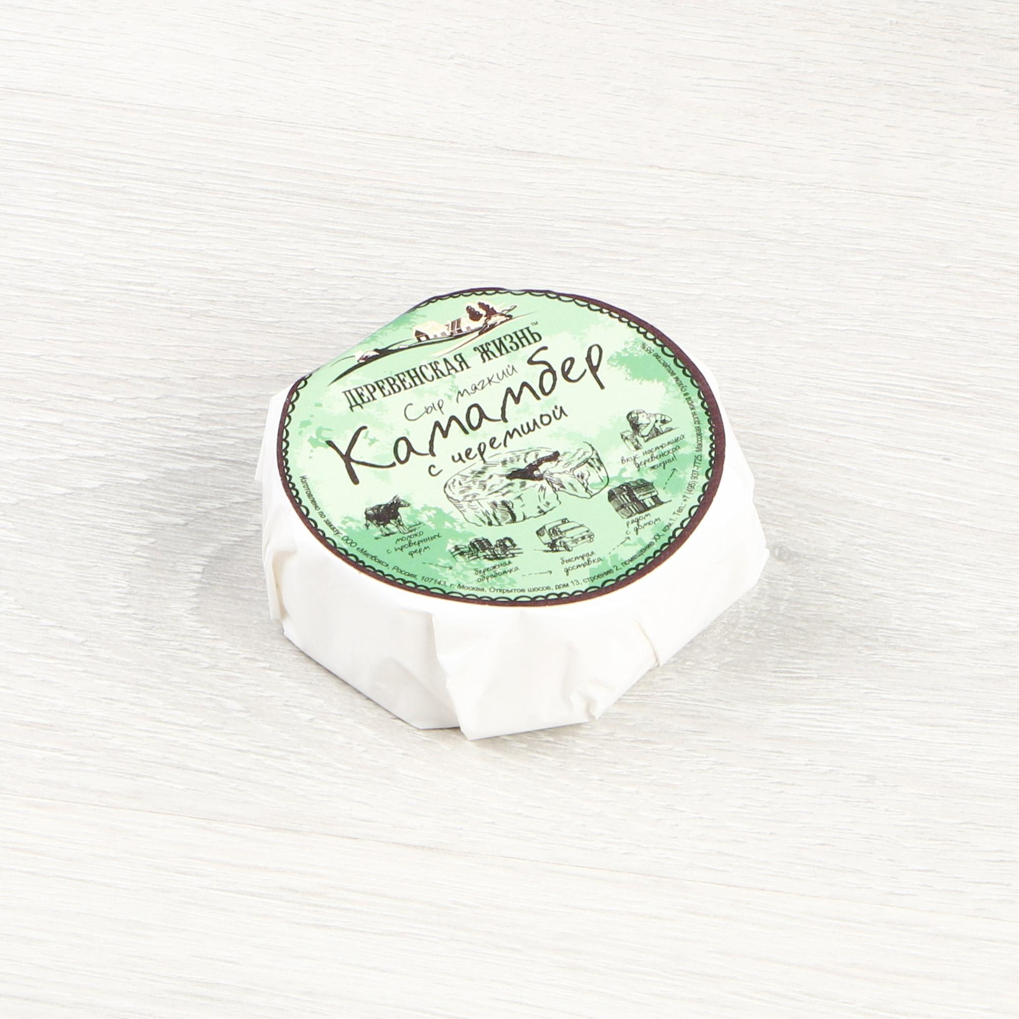 Сыр Деревенская жизнь Камамбер с черемшой 150 г недорого