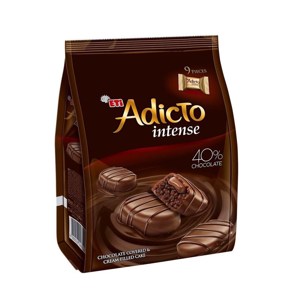 Кексы ETI Adicto Intense шоколадная глазурь 144 г недорого