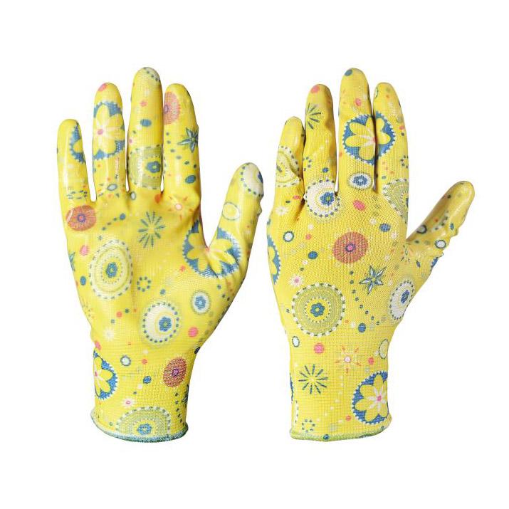 Перчатки садовые Verdemax floral s