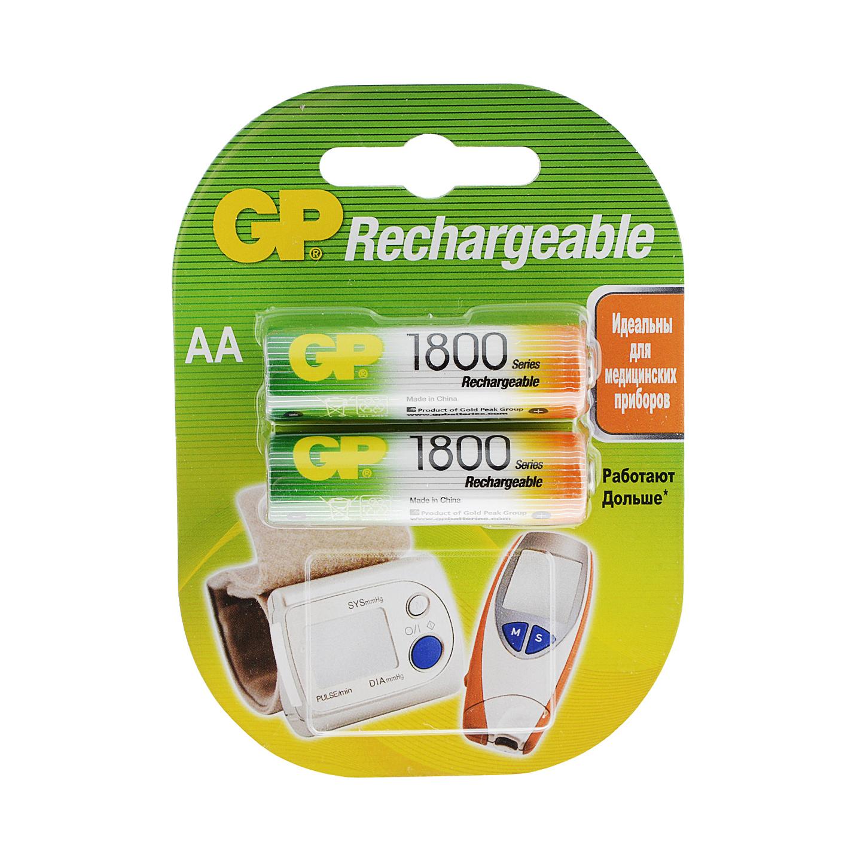 Аккумулятор GP 180AAHC AA 1800 мА*ч 2 шт аккумулятор gp mp05ma