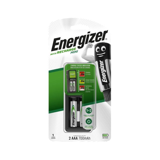 Устройство зарядное Energizer Mini Charger + 2 батарейки AAA 700 mAh