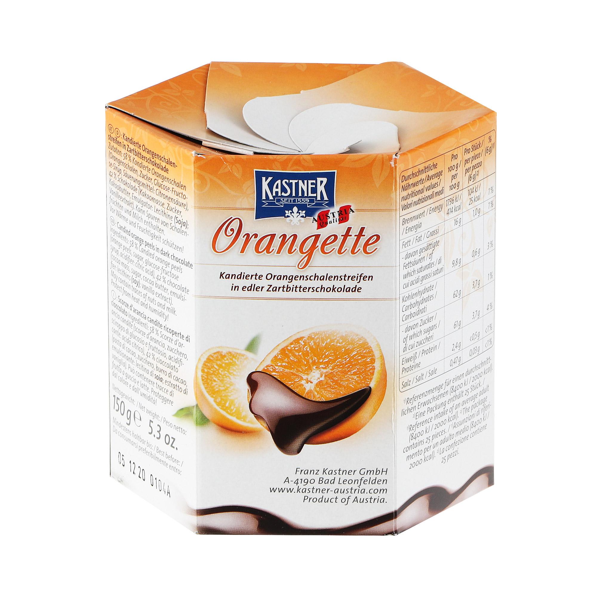 Конфеты Kastner Цукаты в темном шоколаде 150 г недорого