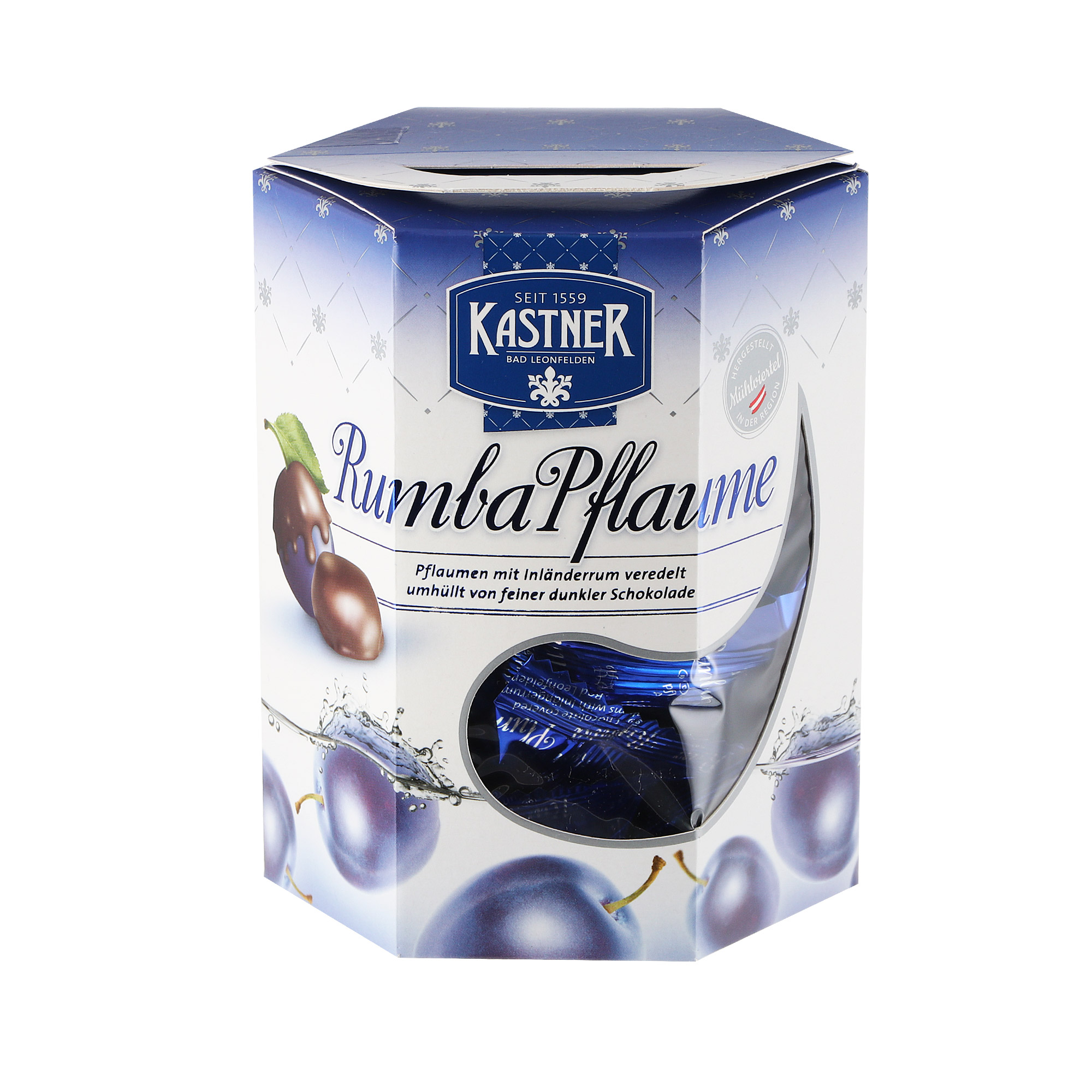 Конфеты Kastner Чернослив с австрийским ромом и темным шоколадом 200 г недорого