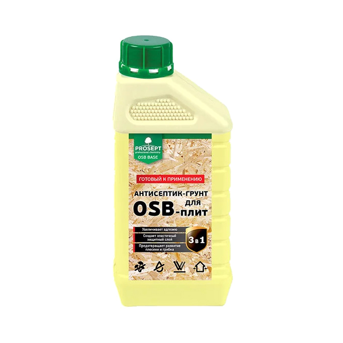Фото - Антисептик-грунт Prosept для OSB плит 1 л антисептический грунт для древесины prosept eco universal 5 л
