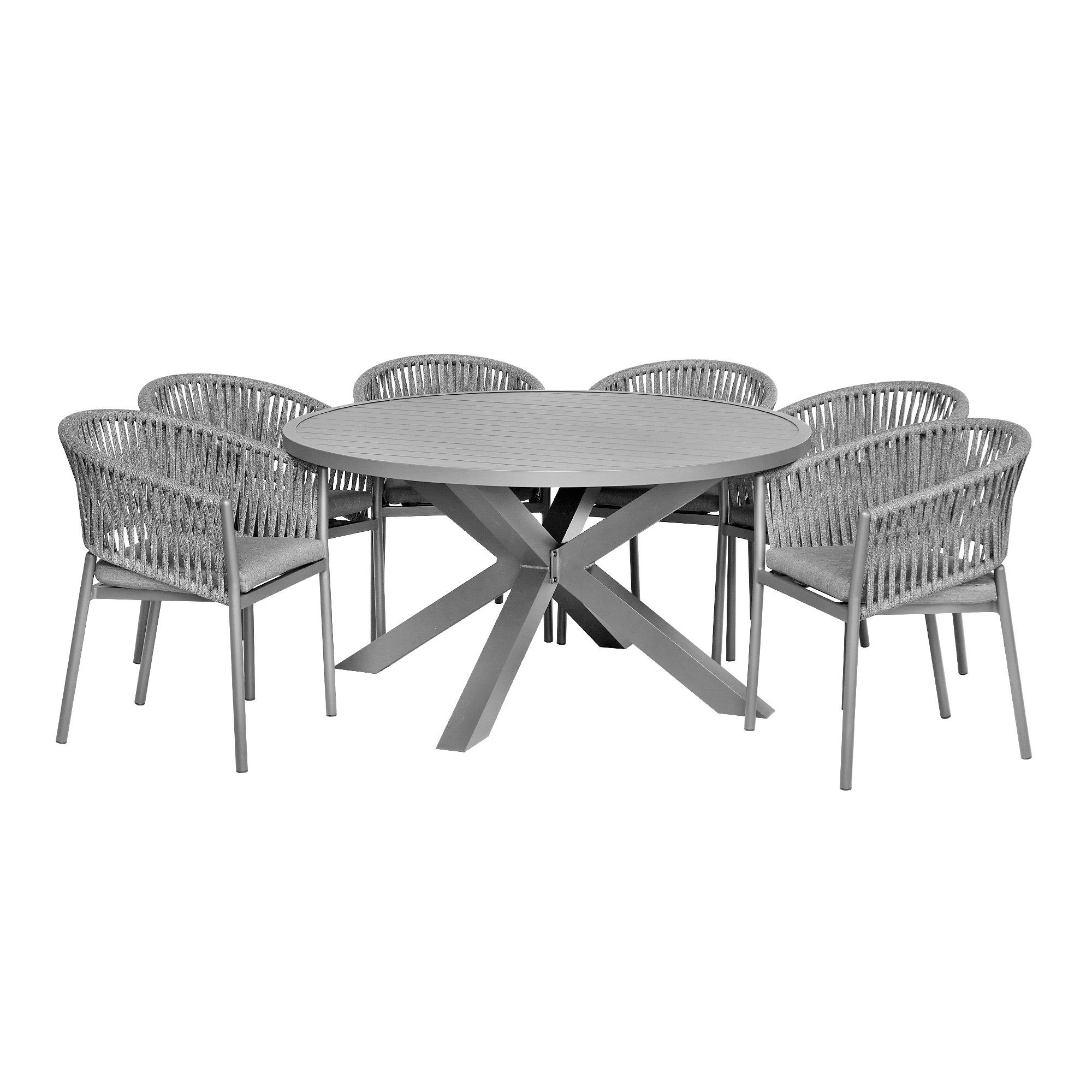 Комплект мебели Bizzotto Florencia: стол skipper + 6 кресел