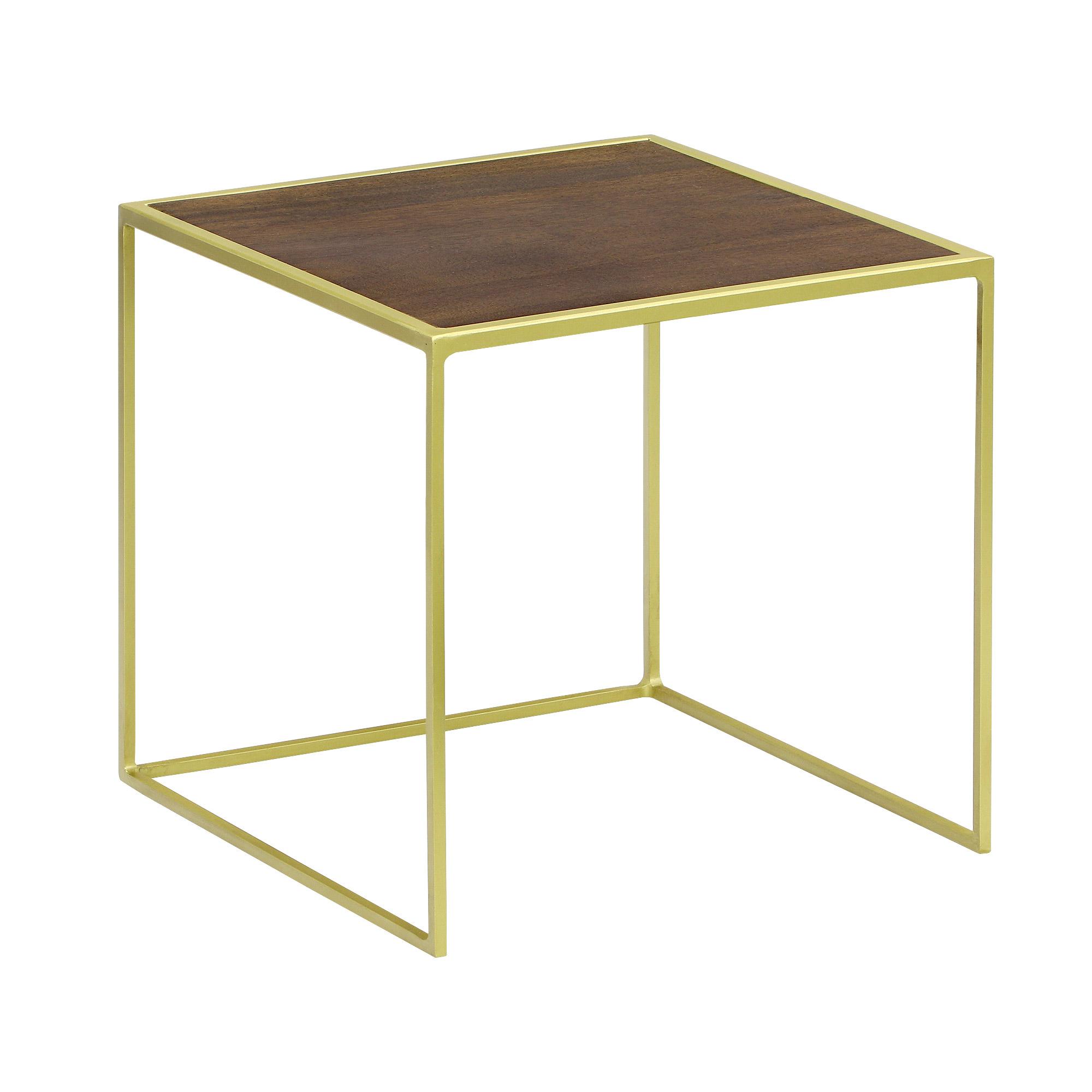 Столик приставной Edelman jailey 40х40см 45см коричневый
