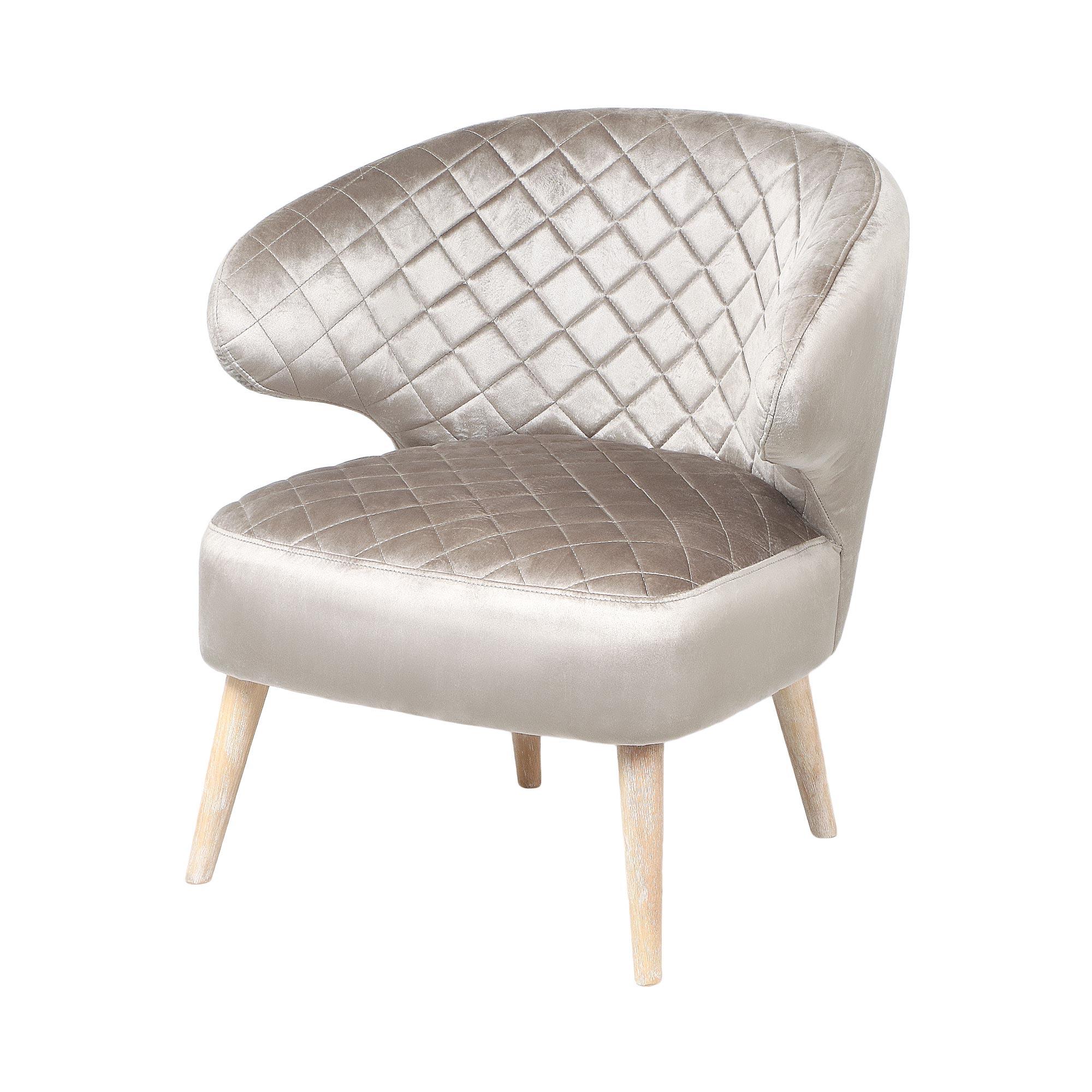 Кресло Bizzotto furniture Bertrand серо-коричневое 67х63х73/41 см