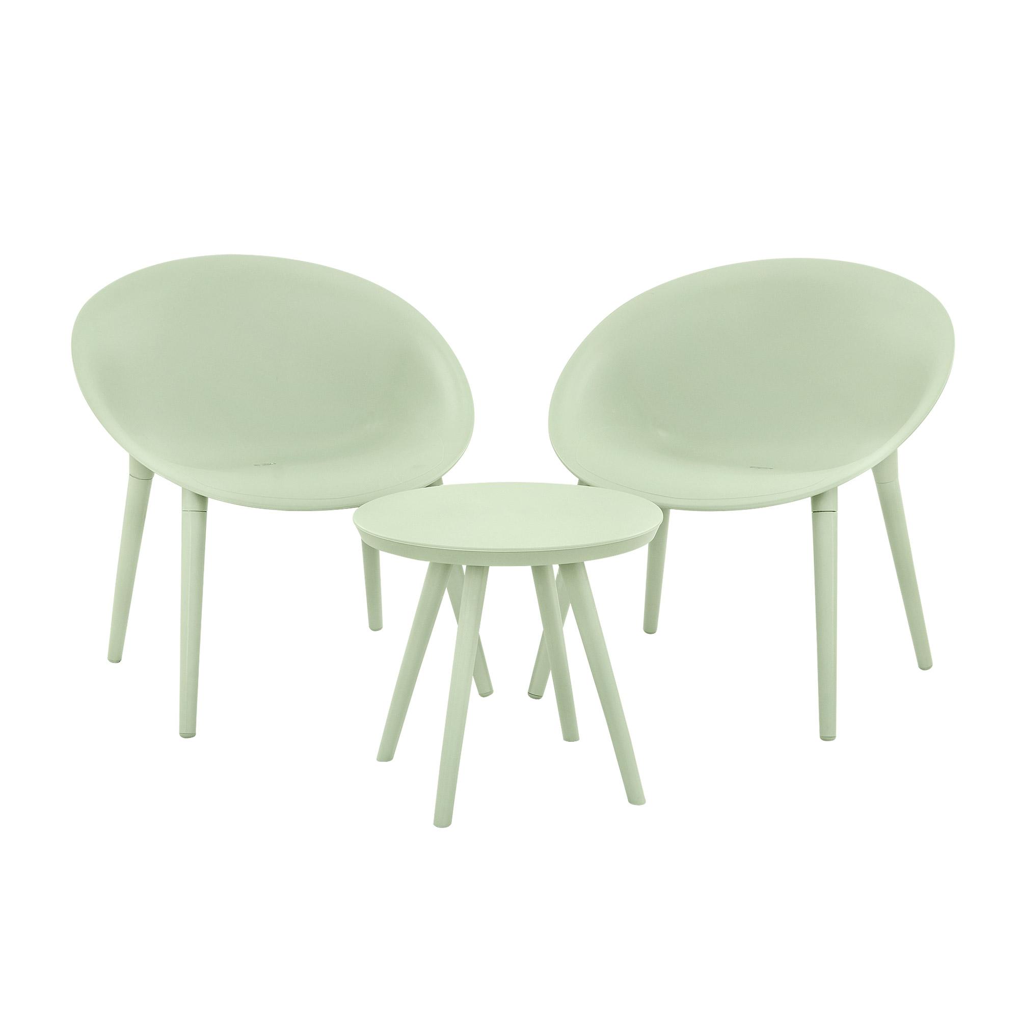 Комплект мебели Kaemingk furniture Marbella стол/2стула зеленые
