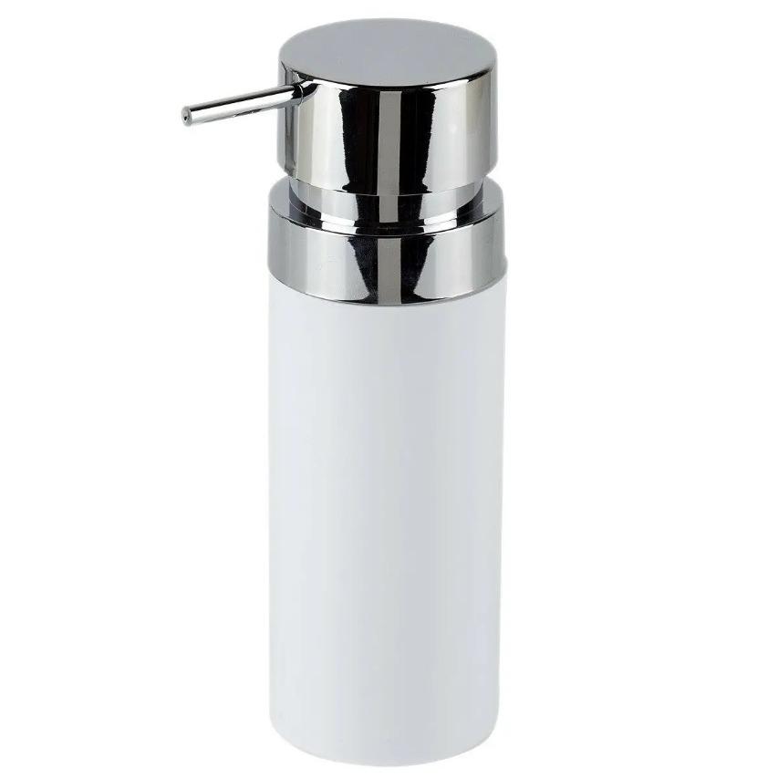Фото - Дозатор Primanova Lenox для жидкого мыла белый 0,3 мл дозатор primanova lenox для жидкого мыла черный 0 3 мл