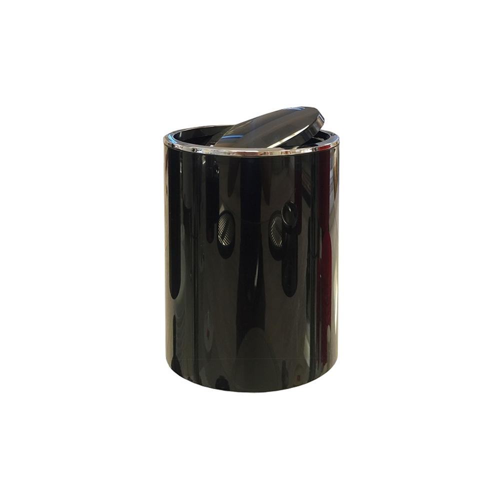 Урна Primanova Lenox с вращающейся крышкой черная 18,5х25,5 см урна primanova fresco 19 5х22 см