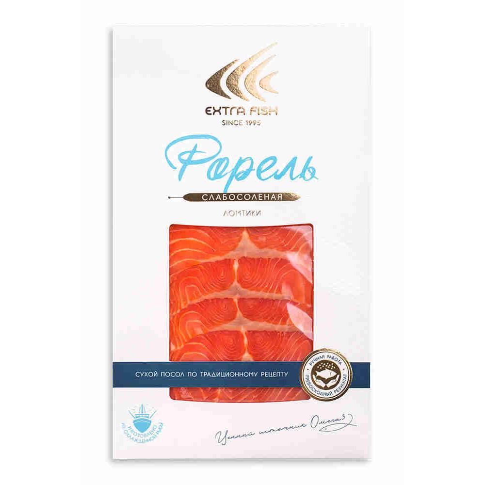 Фото - Форель Extra Fish филе-ломтики слабосоленая, 100 г масляная рыба extra fish филе ломтики холодного копчения 100 г
