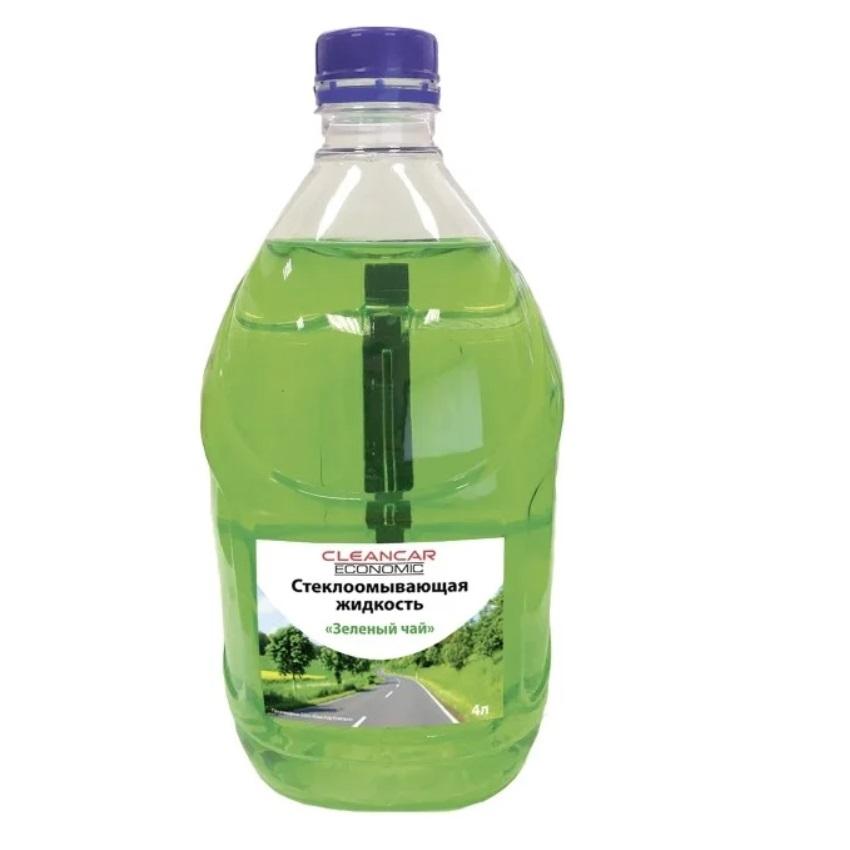 Жидкость стеклоомывающая летняя Cleancar 4л зеленый чай