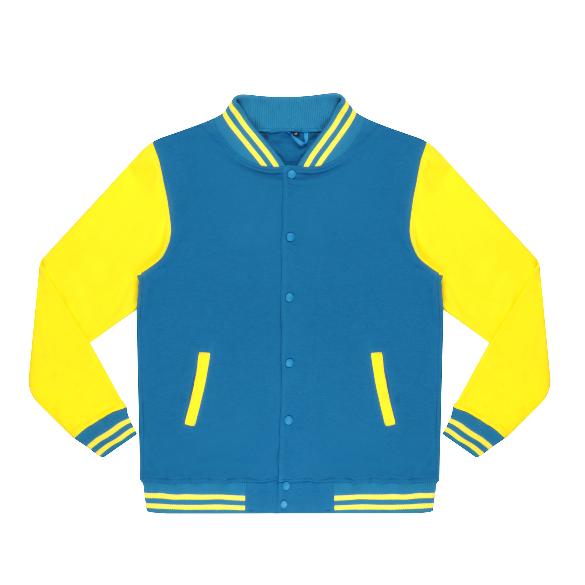 Бомбер Garment тёмно-синий/жёлтый S хлопок