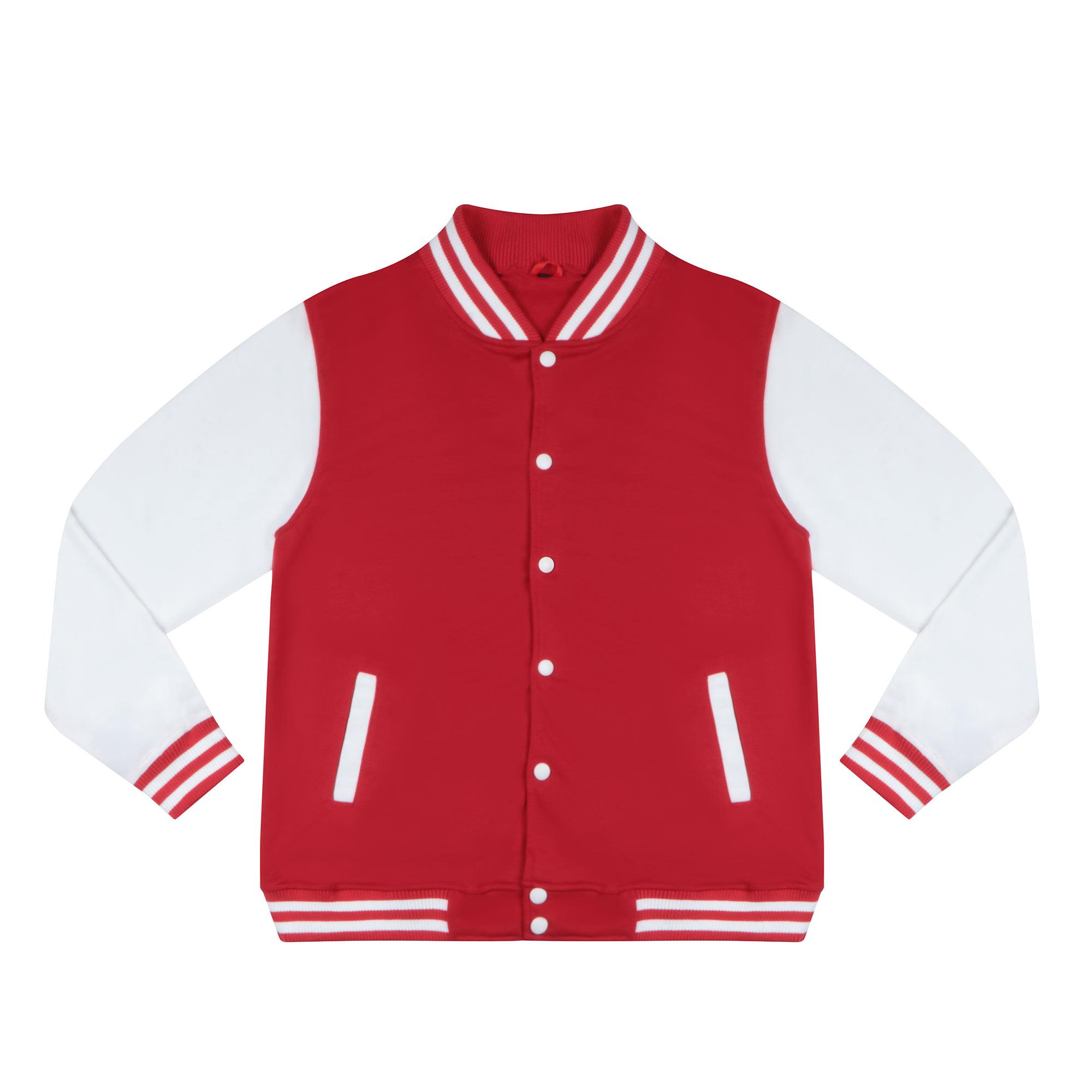 Бомбер Garment красный/белый M хлопок